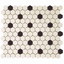 Hexagon Tile Floor Patterns Merola Tile Metro Hex 2 In Matte White 10 1 2 In X 11 In X 5 Mm