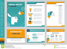 annual report book cover and presentation template stock vector annual report book cover and presentation template