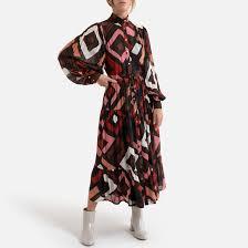 <b>Платье длинное с</b> принтом разноцветный Suncoo | <b>La Redoute</b>