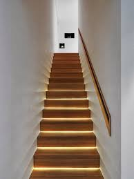 view in gallery lighting at the base of each step basement stairwell lighting