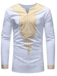 <b>E</b>-<b>BAIHUI new</b> Odeneho Wear Men's White Polished Cotton Top ...
