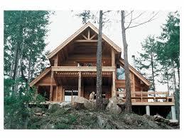Mountain Home Plans    Story Mountain House Plan Design   H    Mountain Home Plan  Rear View  H