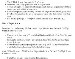 Professional High School Basketball Coach Templates To Showcase ... Resume Templates High School Basketball Coach basketball coach .
