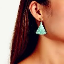 Fashion Full Diamond Star <b>Green</b> Pendant Earrings 1Pair | www ...