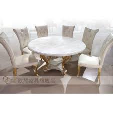 round white marble dining table:  round white marble dining table golden stainless steel legged