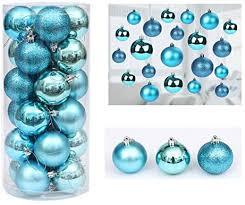 maidodo <b>24PCS Christmas</b> Balls <b>Christmas</b> tree plastic baubles ...