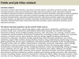 top executive assistant interview questions and answers executive assistant interview questions and answers 57 58