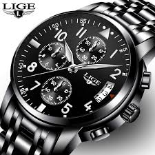relogio masculino <b>LIGE Mens Watches Top</b> Brand Luxury Fashion ...