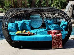 image of patio wicker daybed amazoncom patio furniture