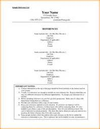 job reference list format example better resume template job reference list format example 3