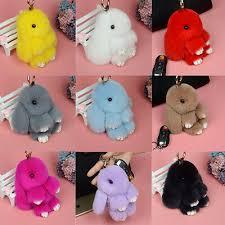 <b>15cm</b> Large Rex <b>Rabbit Fur Bunny</b> Ball Doll Kids Toy <b>Keychain</b> Bag ...