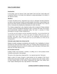 essay on health care essay health care health care essay health care essay introduction in this essay i give my