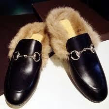 Online Shop 2016 <b>Fashion Women</b> Real Fur <b>Shoes</b> Genuine ...