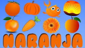 El color naranja para niños - Cosas de color naranja - YouTube