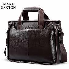 Vintage <b>100</b>% <b>Genuine leather</b> Men Business Briefcase Russian ...