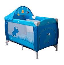 <b>Манеж</b>-<b>кровать Coto Baby</b> Samba lux синий бегемот: купить за ...