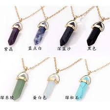 Online Shop <b>Hot sale Hexagonal Column</b> Quartz Necklaces ...