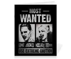 Тетрадь на скрепке Отряд самоубийц. Джокер и Харли Квинн ...