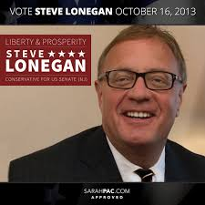 Governor Sarah Palin Reminds New Jersey Steve Lonegan is the Right Choice - sarahpac-steve-lonegan