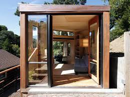 students design and build a sustainable modular office backyard home office build