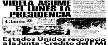 Resultado de imagen para dictadura militar argentina