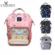 <b>LEQUEEN</b> Fashion Mummy <b>Diaper Bag Backpack Baby</b> Care Bag ...