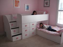 bedroom awesome cool bunk beds for teens amusing white wooden equipped with 6 drawer kids amusing cool kid beds design