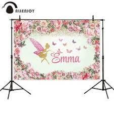 <b>Allenjoy</b> baby shower <b>backdrop</b> pink girl <b>elephant</b> love hearts <b>Photo</b> ...