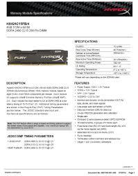 <b>Kingston HyperX</b> RAM <b>DDR4 4GB</b> 8G 2400MHz 16G=2PCSX8G ...