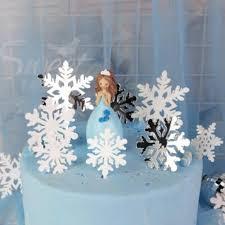 <b>4Pcs Merry Christmas</b> Acrylic Cake Topper Glitter White Silver ...