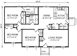 Bungalow floor plans  bedroom house and House plans on Pinterest