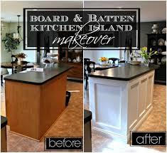 kitchen island remodel ideas board amp batten kitchen island makeover