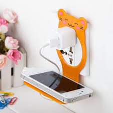 <b>1PCS</b> Foldable Plastic Cell <b>Phone</b> Wall <b>Charger</b> Hanger <b>Holder</b> ...
