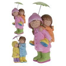 <b>Фигура садовая</b> Дети с зонтиком 29х22х55 см купить недорого в ...