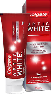 "Colgate <b>Зубная паста</b> ""Optic <b>White</b>"", <b>отбеливающая</b>, 75 мл"