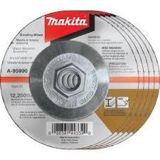 Makita 5 in. x 1/4 in. x <b>5/8</b> in. 36-Grit <b>INOX</b> Grinding Wheel (5-Pack ...