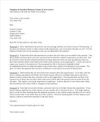 business cover letter format example cover letter outline examples