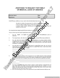 response to employee request for family or medical leave lawyer product description