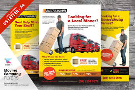 moving company flyer templates flyer templates on creative market