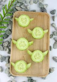 <b>Star Wars</b> turkey and guacamole Yoda Cucumber <b>Bites</b> (With ...