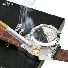 <b>1pcs hot</b> Fashion Rechargeable USB Lighter Watches <b>Electronic</b> ...