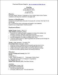 example of functional cv functional resume example sample chrono free combination resume template