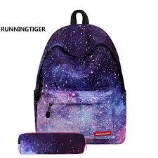 Star Universe Printing <b>Women Backpack Children School</b> Bags For ...