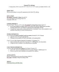 psychology major resume example psychology resume samples
