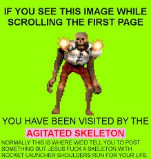 Agitated Skeleton | Doom | Know Your Meme via Relatably.com