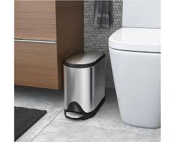 stainless steel pedal waste bins bathroom simplehuman  litre butterfly pedal bin fingerprint proof brushed stain