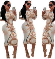 <b>Women Designer</b> Bodycon Dress Long Sheath Spring <b>Summer</b> ...