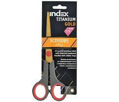 <b>Index Ножницы</b> Titanium Gold 175 мм пластиковые ручки ...