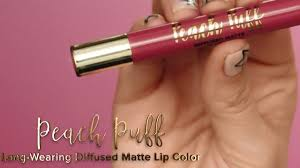 Peach Puff Long-Wearing Diffused Matte Lip Color - <b>Too Faced</b> ...