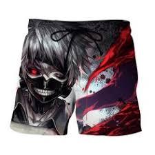 Tokyo Ghoul <b>Anime</b> Ken Kaneki Black Reaper Dope <b>Print</b> Shorts ...